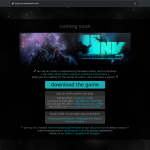 the temporary page we used to welcome people and provide minimal support