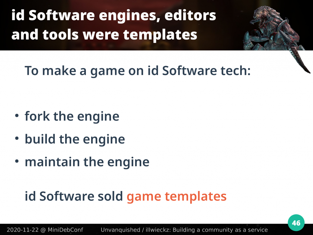 id Software sold game templates