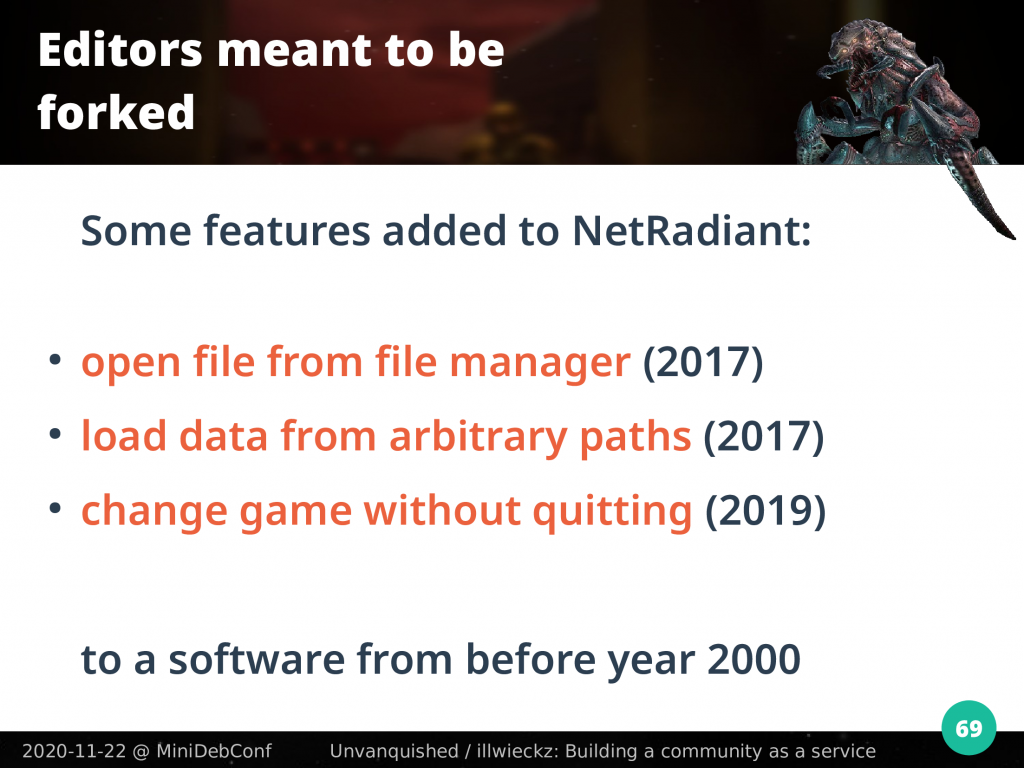 Changes dones on NetRadiant on the last three years while the software is 20 years old