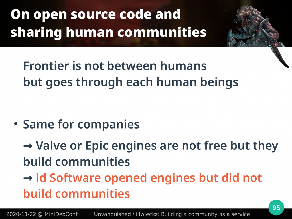 id Software opened engines but did not build communities