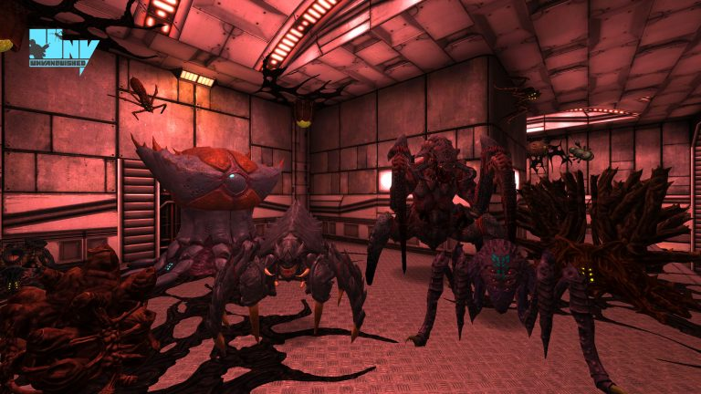 A mighty tyrant, an advanced dragoon, an advanced marauder healing in their base, with a dretch and a mantis are practicing their wallwalking skills and an advanced granger is busy building an hive in Platform 23 map.