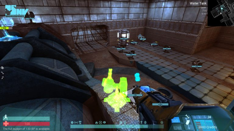An human player building some defensive structures to protect his base for alien threat in Perseus map.
