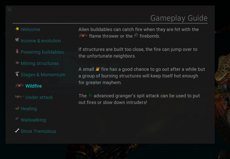 In game gameplay guide.