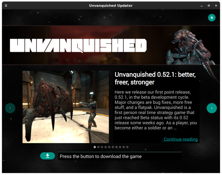 The Unvanquished updater and launcher.